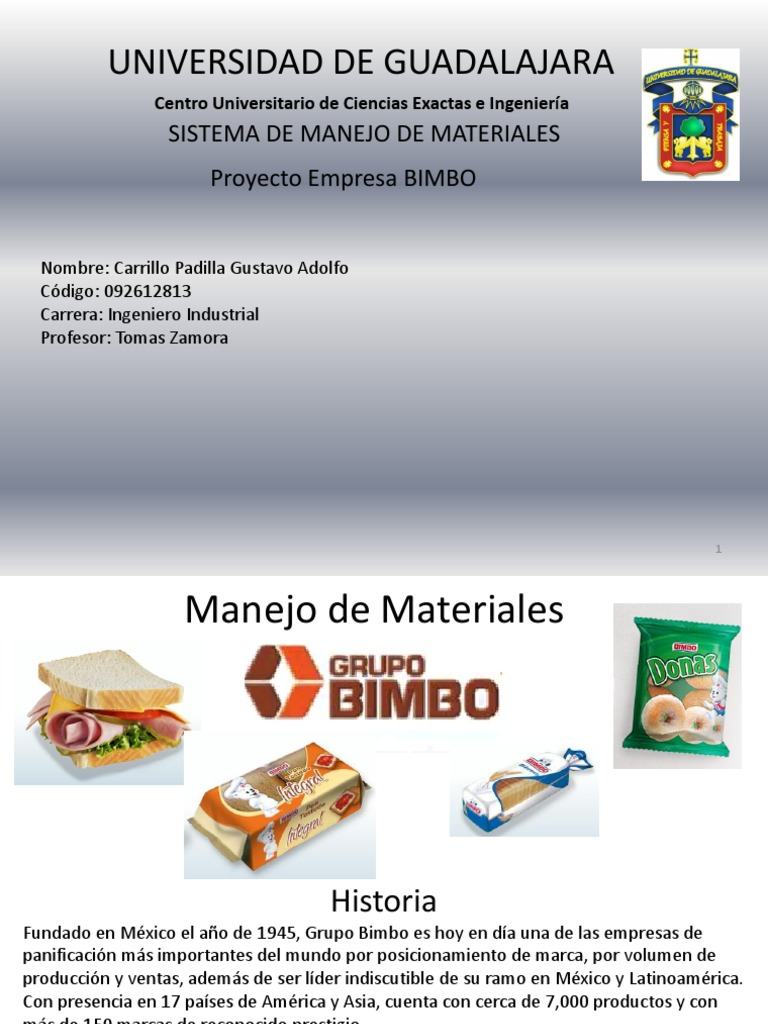 Manejo de materiales grupo bimbo ccuart Choice Image