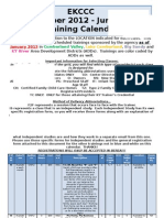 EKCCC Spring Training Calendar