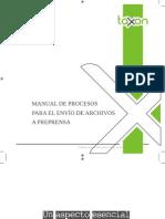 Manual de procesos para el envío de archivos a Preprensa