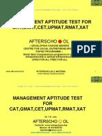 Management Aptitude Test for Cat,GMAT,Cet,Upmat,Rmat,Xat