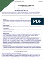 Cochrane - Restricción de líquidos por vía oral y de ingesta de alimentos durante el trabajo de parto