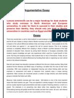Argumentive Essay Faisal