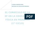 El currículo de la EF en la educación primaria