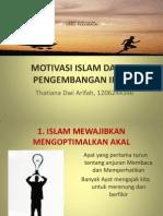 Motivasi Islam Dalam Perkembangan Iptek