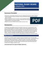 IRB Concussion Guidelines En