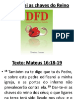 Eu te darei as chaves do Reino (Mateus 16:19)