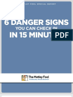 6 Danger Signs You Check in 15 Minutes