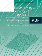Dynamic Modeling and Eco No Metrics in Economics and Finance