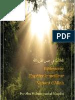 56409774 Reflexion Esperer Le Meilleur Venant d Allah Al Maqdisi