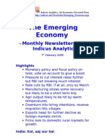 Emerging Economy February 2009 Indicus Analytics