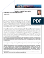 Capital Preservation in the Age of Financial Repression