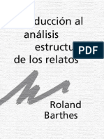 Barthes Introduccion Al Analisis Estructural de Los Relatos