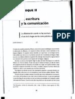 La escritura y la comunicacion