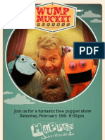 Wump Mucket Puppets at Happen Northside poster