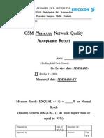 Drive test acceptance report