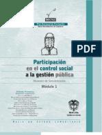 Participación en el control social a la gestión pública