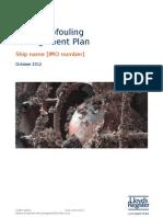 Model Biofouling Management Plan Oct 2012_tcm155-241770