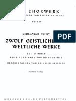 IMSLP47976-PMLP101640-Das Chorwerk 019 - Dufay Guillaume - 12 Sacred and Secular Songs