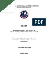 Tesis para optar Magister en Economia PUCP