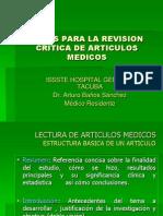 Bases Para La Revision Critica de Articulos Medicos