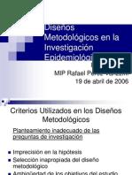 Diseños Metodológicos en la Investigación Epidemiológica
