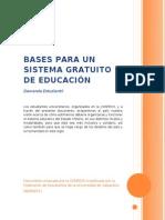 Bases Para Un Sistema Gratuito de Educacion