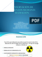 Conservacion de alimentos por radiacion