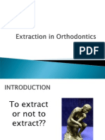 EXTRACTION IN ORTHODONTICS