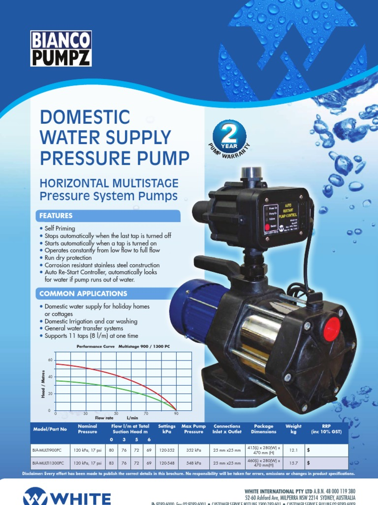 Bianco PressurePump | Hydraulic Engineering | Pump