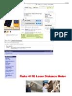 New Fluke 411D Laser Distance Meter Tape Measurer 30mtr eBay