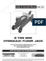 3125 2 Ton Mini Hydraulic Floor Jack