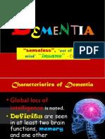 DEMENTIA Geriatrics