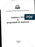 Admitere Master 2011