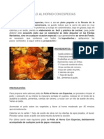 Pollo Al Horno Con Especias
