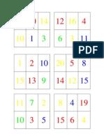 Bingo números y Colores