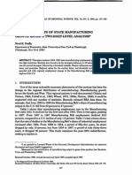 THE DETERMINANTS OF STATE MANUFACTURING GROWTH RATES