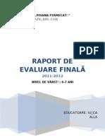 Evaluare finala 2012