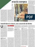 Due articoli sulla tragica situazione delle carceri italiane - L'Unità 09.01.2013