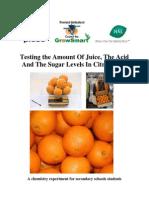 determinatio of acid contents in sour fruits