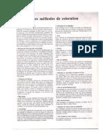 Notes sur les méthods de coloration utilisées en Anatpath