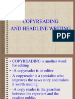 Copyreading and Headline Writing