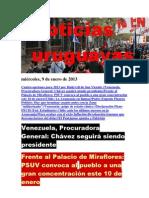 Noticias Uruguayas miércoles 9 de enero del 2013