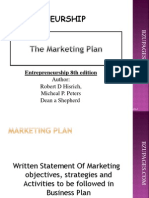 Chapter#8 the Marketing Plan by Shepherd Hisrich, Peters