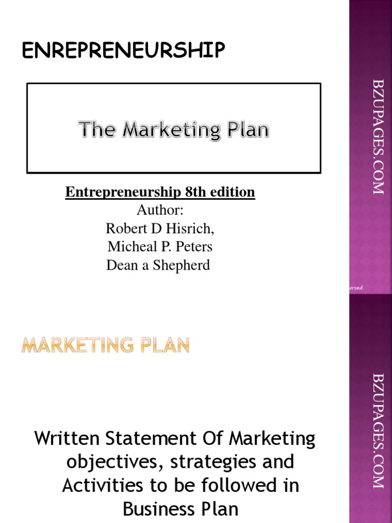 Chapter8 the marketing plan by shepherd hisrich peters promotion chapter8 the marketing plan by shepherd hisrich peters promotion marketing marketing fandeluxe Choice Image