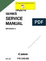 CANON iR1600 iR2000 iR1610F iR2010F Service Manual Pages