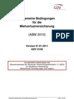 Allgemeine Bedingungen für die Mietausverlustversicherung
