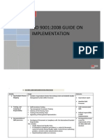 Iso 9001 Implementation Plan