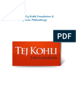 Tej Kohli Corporate Philanthropy