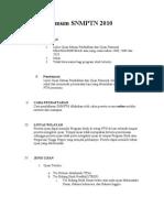 Panduan Umum SNMPTN 2010