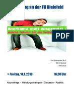 Programmflyer Fachtagung FH Bielefeld 18.01.2013